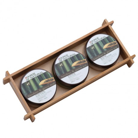 Bambusowy zestaw do kąpieli Damara